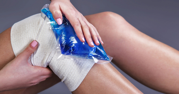 Ice treatment for cartilage damage in the knee and ankle