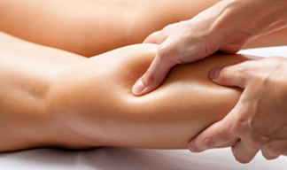 Massage therapy for tight calf muscle