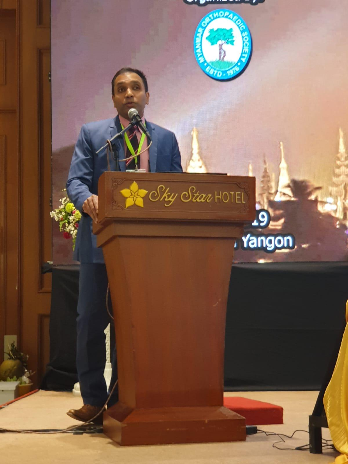 Dr. Gowreeson Annual scientific meeting of the Myanmar Orthopaedic Association